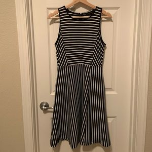 Banana Republic Black & White Striped Dress